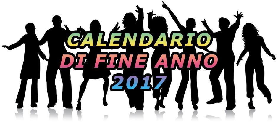 calendario fine anno 2017